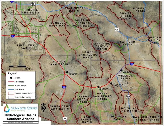 Hydrological Basins Gunnison Copper r2 c2